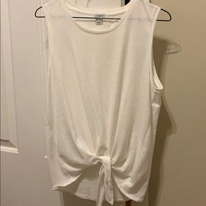 J crew Knotted Front tank